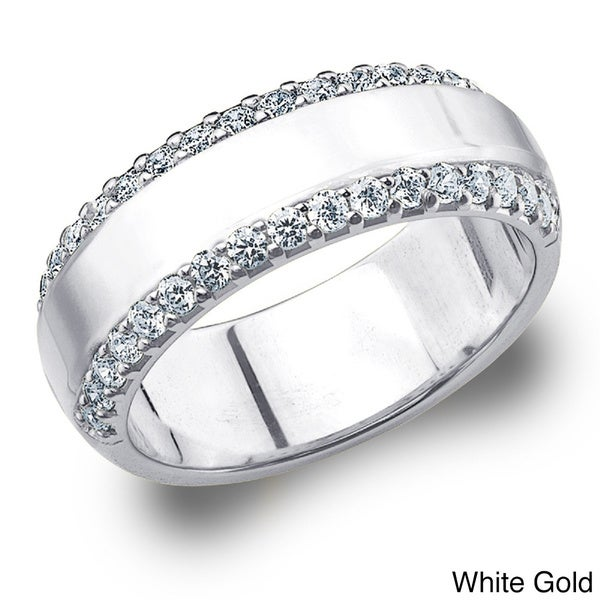 Amore 14k Gold 1/2ct TDW Machine-set Diamond Anniversary Band (H-I, I1-I2)