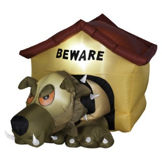 3-foot High Animated Airblown Hell Hound Outdoor Decor