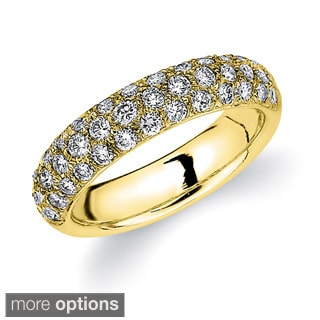 14k Gold 1ct TDW Machine-set Diamond Pave Band (H-I, I1-I2)
