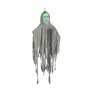 4-foot Hanging Green Face White Ghost Decoration