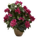 Bougainvillea and Ceramic Vase Floral Arrangement