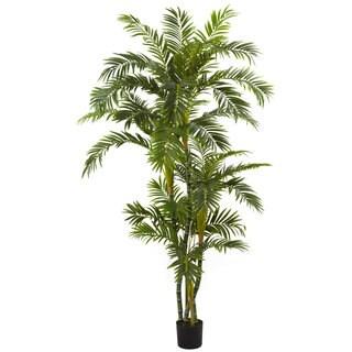 6-foot Silk Curvy Parlor Palm Tree