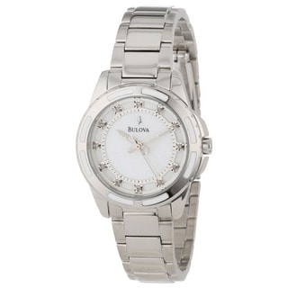 Bulova Women's 96P144 Diamond-accented Swiss Quartz Watch