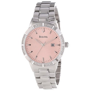 Bulova Women's 96R175 Diamond-accented Pink Dial Watch