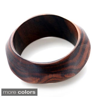 Wave Wood Natural Bangle (Indonesia)