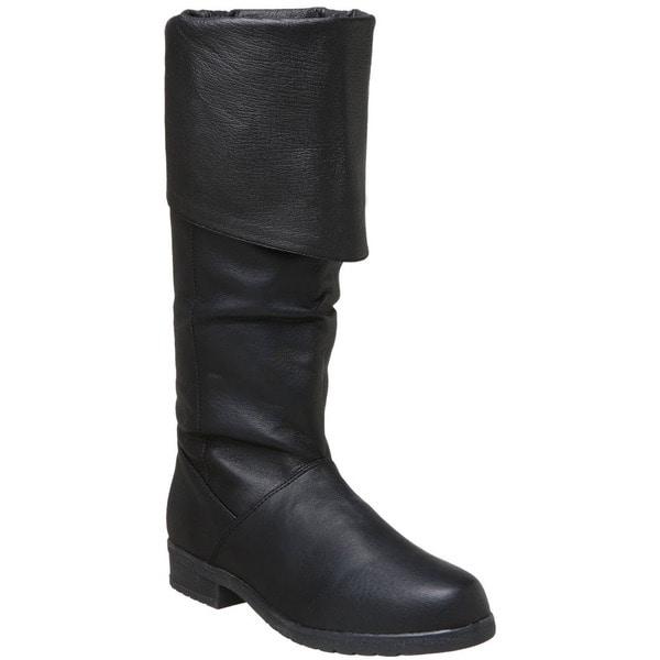 Pleaser Maverick Men's Pig Leather Knee High Boots 11757900