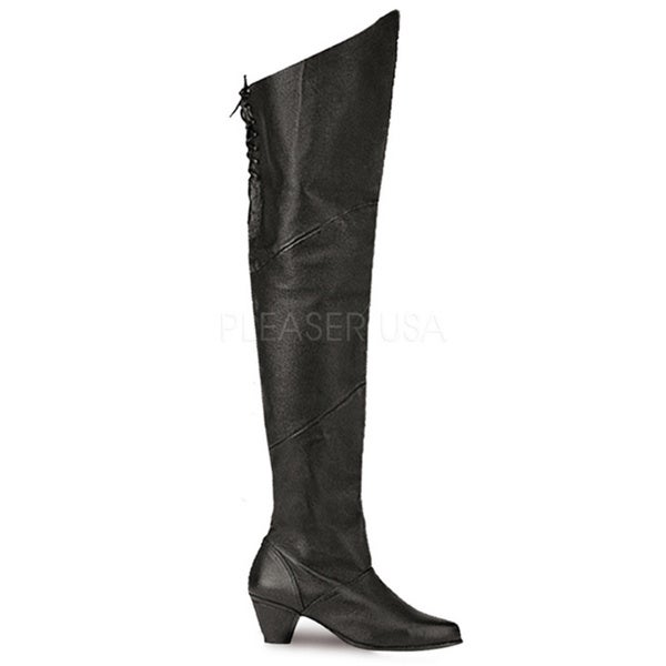 pleaser maiden s pig leather 2 inch heel thigh high