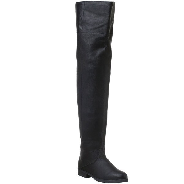 Pleaser Maverick Men's Pig Leather Thigh High Boots 11758127