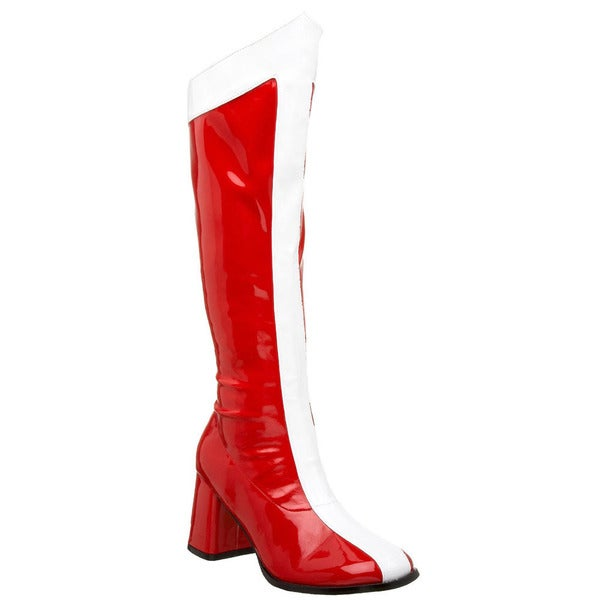 Funtasma Women's 'Gogo-305' Red/ White Wonder Woman Knee-high Boots