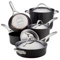 Anolon Nouvelle Grey Copper Hard-anodized Nonstick Cookware Set (9-piece Set)