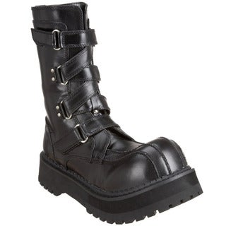 Demonia Men's 'Fierce-130' Black Strappy Boots