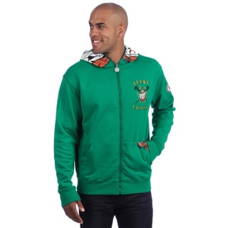 Flow Society Men's 'Lucky Lax' Green Lacrosse Face Zip Hoodie