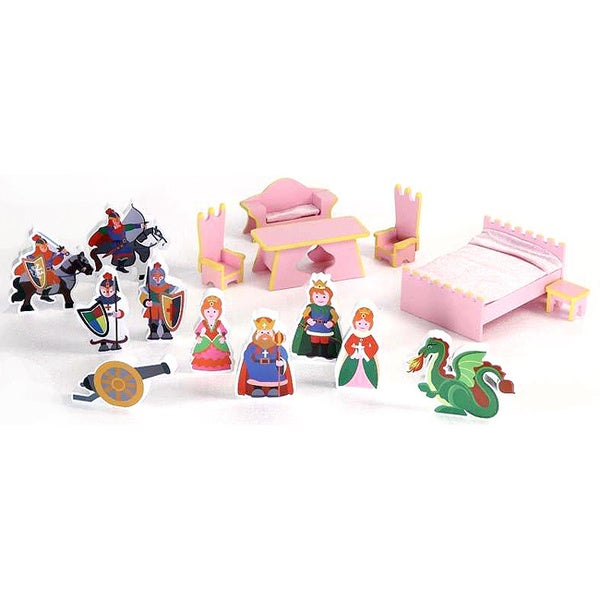 Castle Doll House 16-Piece Accessory Set