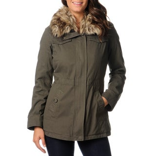 Mo-ka Women's Cotton Canvas Anorak Jacket