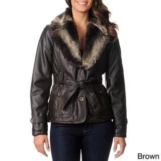 Mo-Ka Women's Faux Fur Trimmed Jacket
