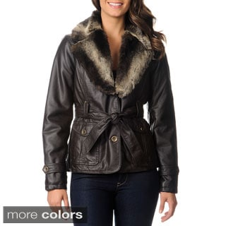Mo-Ka Women's Faux Fur Trimmed Jacket