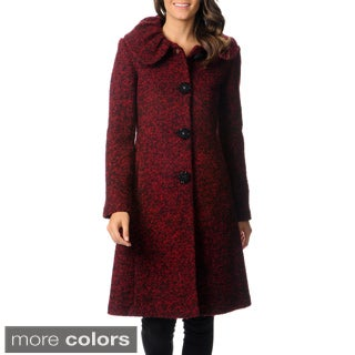 Ivanka Trump Women's Boucle Collar Full-length Coat