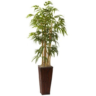 4-foot Bamboo with Decorative Planter