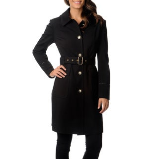 Via Spiga Women's Water-resistant Belted Trench Coat - Overstock