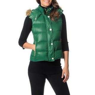 Vince Camuto Women's Faux Fur Hooded Vest