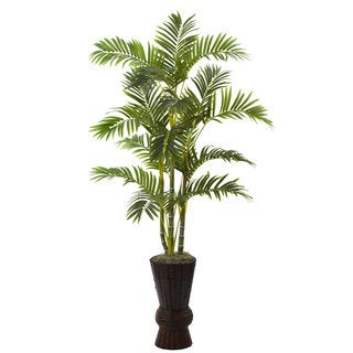 62-inch Areca Tree with Decorative Planter