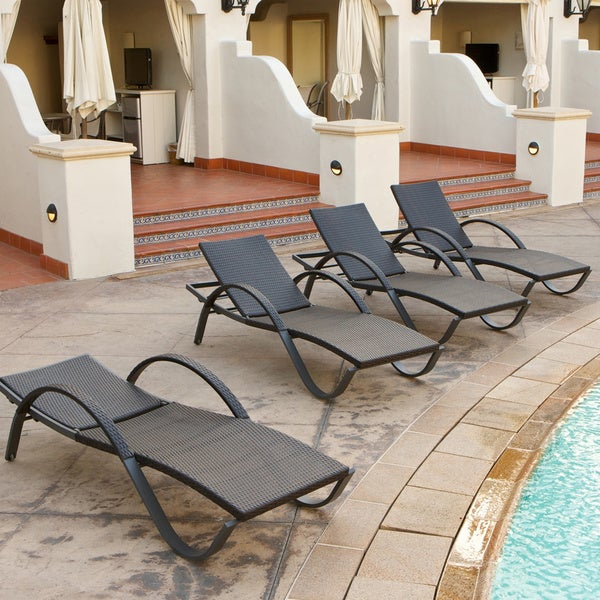 RST Brands DECO Chaise Lounge 4 piece Patio Furniture