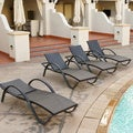 DECO Chaise Lounge Four Pack Patio Furniture