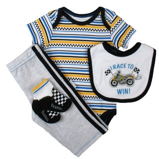 Vitamins Baby Boys Race to Win Coverall Set