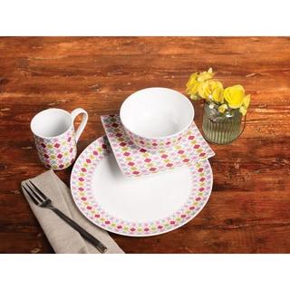 TTU Gallery 'Argyle' 16-piece Dinnerware Set