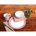 TTU Gallery 'Gingham' 16-piece Dinnerware Set