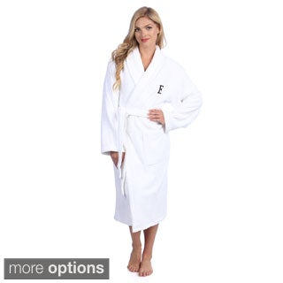Authentic Hotel and Spa Monogrammed Turkish Cotton Unisex Terry Bathrobe