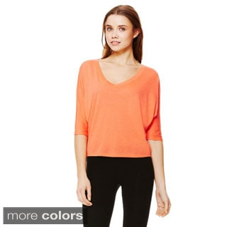 Bella Women's Flowy V-neck Cropped T-shirt