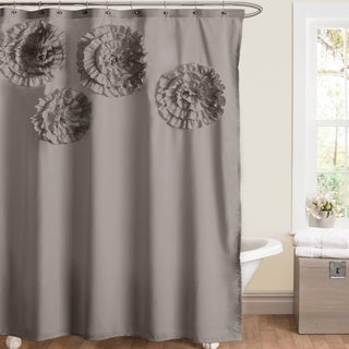Lush Decor Glamour Flower Shower Curtain