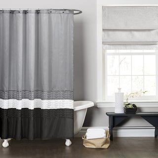 Lush Decor Mia Grey Shower Curtain