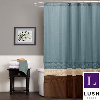 Lush Decor Mia Federal Blue Shower Curtain