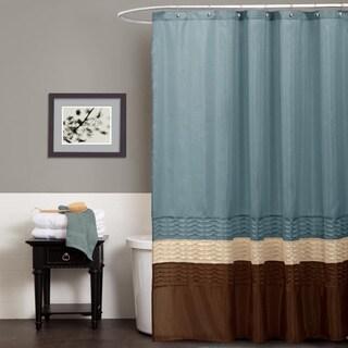 Lush Decor Mia Federal Blue Shower Curtain