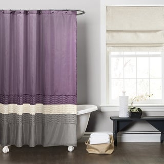 Lush Decor Mia Purple/ Grey Shower Curtain
