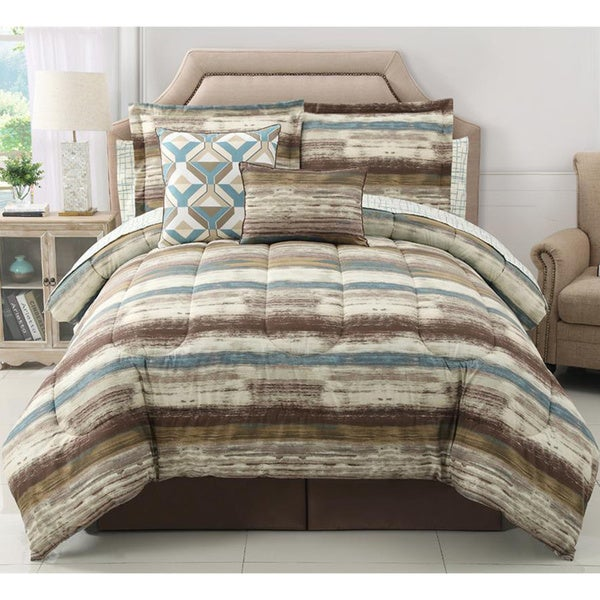 Allegra 10-piece Reversible Comforter Set