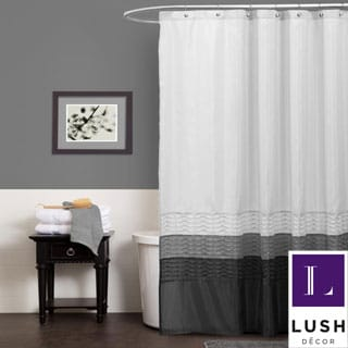 Lush Decor Mia White Shower Curtain