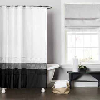 Lush Decor Mia White Shower Curtain