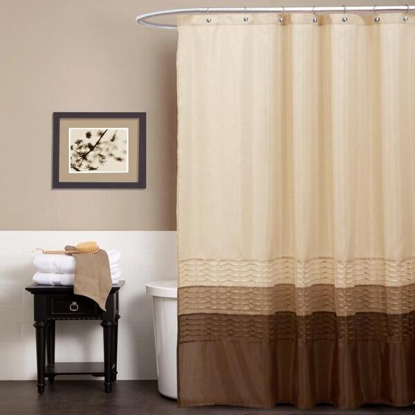 Lush Decor Mia Wheat/ Taupe/ Chocolate Shower Curtain