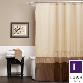 Lush Decor Mia Wheat/ Taupe/ Chocolate Shower Curtain