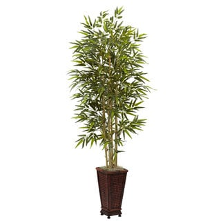 6-Foot Bamboo Tree w/Decorative Planter