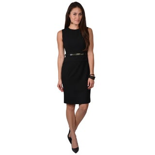 Calvin Klein Women's Belted Peplum Dress