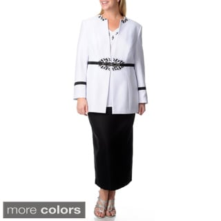 Giovanna Signature Women's Plus 3-piece Skirt Suit