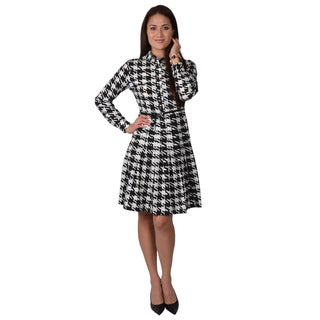 Calvin Klein Women's Long-sleeve Collared Shirtdress