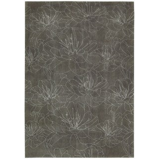 kathy ireland Hand-tufted Home Palisades Mushroom Area Rug (3'9 x 5'9)