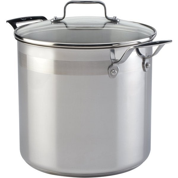 Emeril Stainless Steel 8-quart Stock Pot and Lid