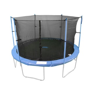 8-foot Trampoline Enclosure Net For Round Frames Using 6 Poles or 3 Arches