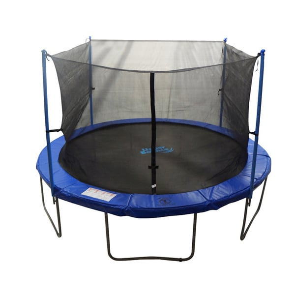 10-foot Trampoline Enclosure Net For Round Frame Using 4 Poles or 2 Arches (Poles Not Included)